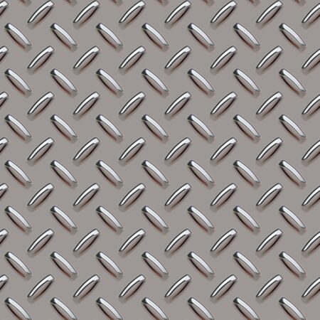 A grey diamond plate texture that can be tiled seamlessly, for use in both print and web design. Stock Photo - 874938