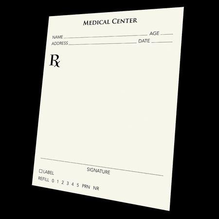 generic drugs: Un vuoto presecription tappetino su uno sfondo nero. Utilizzare la vostra immaginazione:) Vai selvatici.  Archivio Fotografico