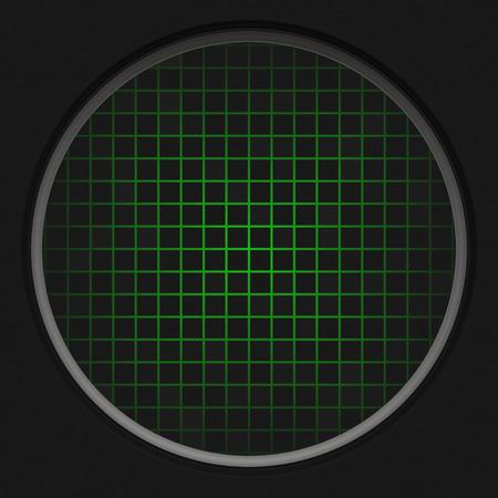 cold war: A circular radar grid background over black.