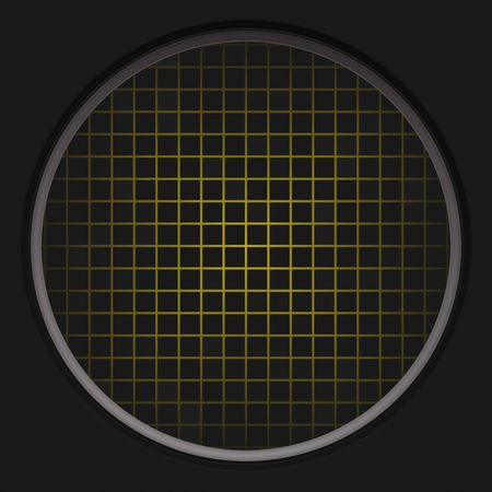 aeronautics: A circular radar grid background over black.  This also works as a button. Stock Photo