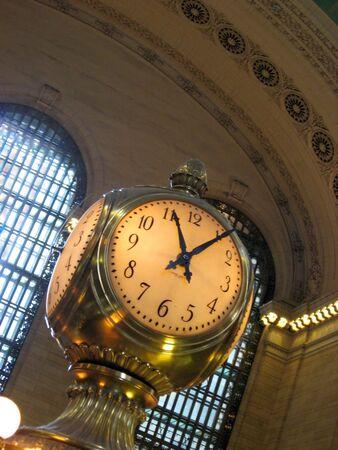 central: El viejo reloj en el centro de la estaci�n de Grand Central en la ciudad de Nueva York.