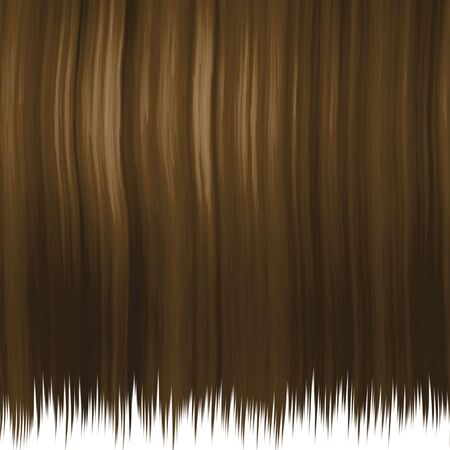 Silky brown hair texture isolated over white.  This one tiles seamlessly. photo
