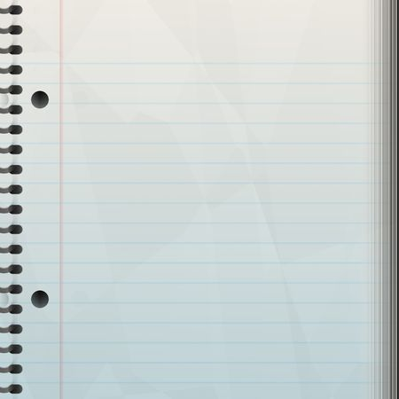 A blank notepad background - great backdrop to let your creativity loose on.   Standard-Bild