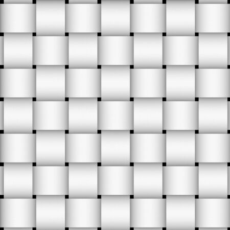 perpendicular: A black and white basketweave pattern. Stock Photo