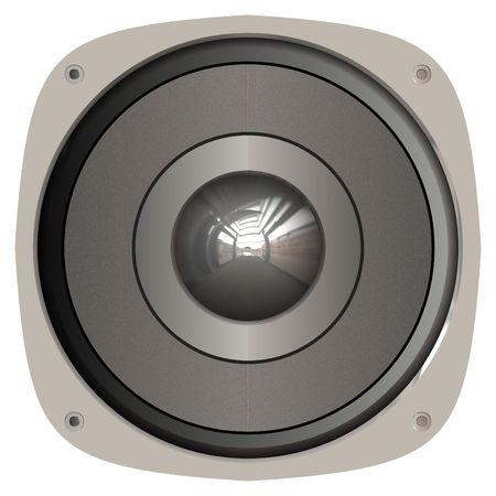 car audio: A generic home or car audio speaker.