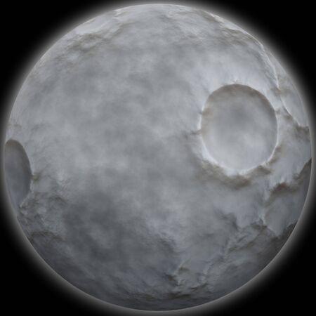 A detailed moon illustration isolated over black. Reklamní fotografie