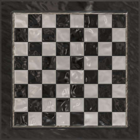 A classy chessboard background with shiny relections. photo