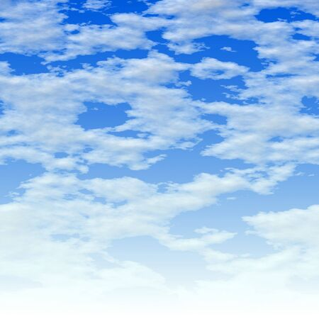 clouds: Here is a simple clouds background - it fades to white at the bottom.  This tiles seamlessly from side to side. Stock Photo