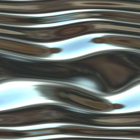 Un lucido, cromo-sfondo molto fluida-come liquido e alla ricerca.