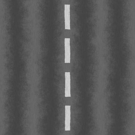 scheidingslijnen: Een lege weg textuur met een witte stippellijn verdeling van de twee rijstroken.