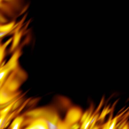 blazes: Graphic flames border - add some fiery hot blazes to your designs.