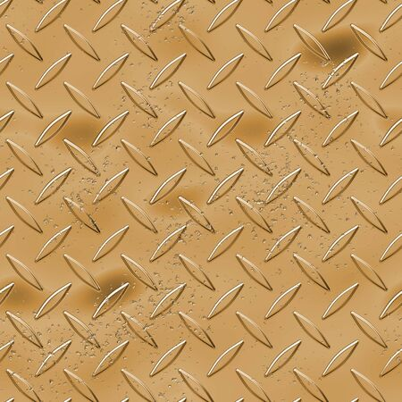 brushed aluminium: A goldbronzecopper toned diamond plate texture - a great metal background for an industrial or contruction type look.  Fully tileable - this tiles seamlessly as a pattern.