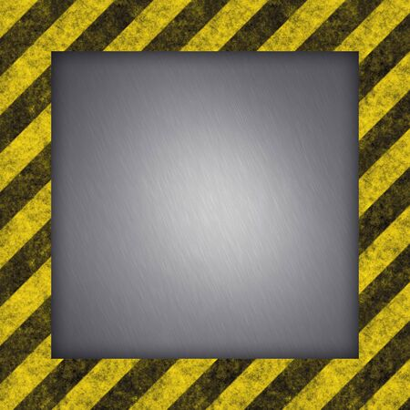 Diagonal hazard stripes texture.  These are weathered, worn and grunge-looking. Stock Photo - 2770970