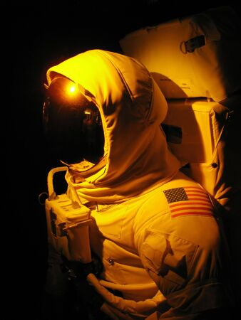 A complete astronaut setup under dramatic lighting. Stock Photo - 2836157