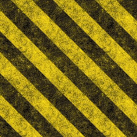 Diagonal hazard stripes texture.  These are weathered, worn and grunge-looking. Stock Photo - 2863845