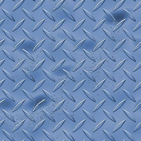 Diamond plate metal texture - a very nice background for an industrial or contruction type look.  Fully tileable - this tiles seamlessly as a pattern. Stock Photo - 2863844