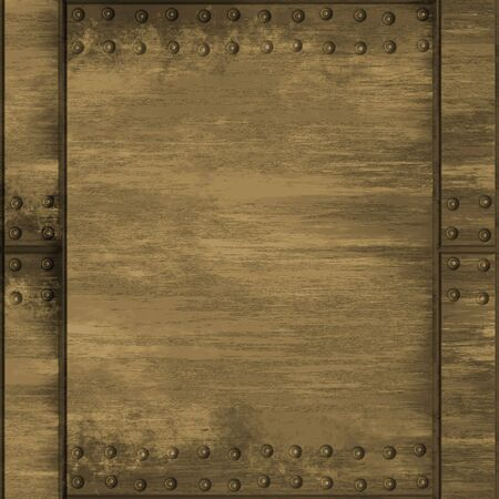 brass plate: A rivetted metal plate in a brass tone.  This one tiles seamlessly as a pattern.