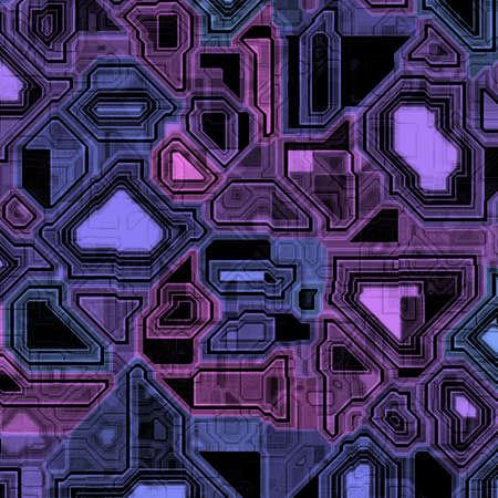 いくつかのハイテク コンピューター回路のイラスト。