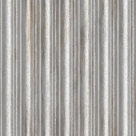 Corrugated steel background - this tiles seamlessly as a pattern.  This is a very popular backdrop for portraits and photoshoots. Stock Photo