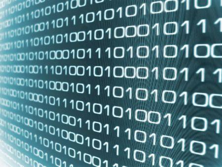 Zeros and Ones - binary code background.   photo