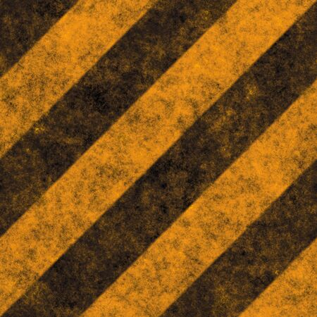 Diagonal hazard stripes texture.  These are weathered, worn and grunge-looking.  This tiles seamlessly as a pattern - fully tileable in any direction Stock Photo - 2910156