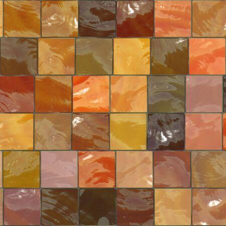 modern kitchen: orange bathroom tiles pattern Stock Photo