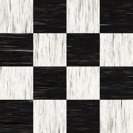 Black and white checkered floor tiles with texture.  This tiles seamlessly as a pattern. photo