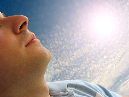 Shot of a man that looks to be sleeping Stock Photo - 2997409