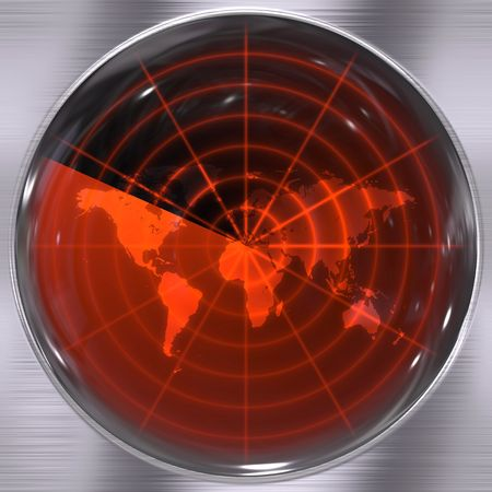 alerts: The world on a radar screen - blips can be added easily anywhere they are needed.