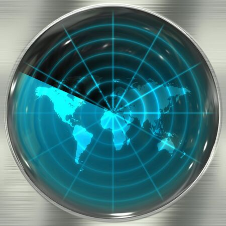 alerts: The world map in a radar screen - blips can be added easily anywhere they are needed.
