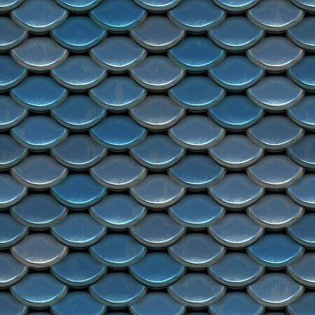 roof tile: A texture that looks like scales of armor, or even tiled roof shingles.  This image tiles seamlessly as a pattern.