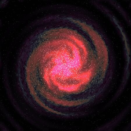 A star filled swirling galaxy in outer space.