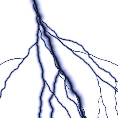 kıvılcım: Bolts of lightning isolated over a white background. Stok Fotoğraf