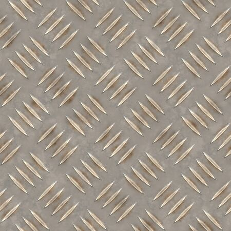 Diamond plate texture that tiles seamlessly as a pattern in any direction. Stock Photo - 3098398