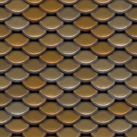 roofing: A texture that looks like roofing tiles, or even the scales on a fish or reptile.  This image tiles seamlessly as a pattern