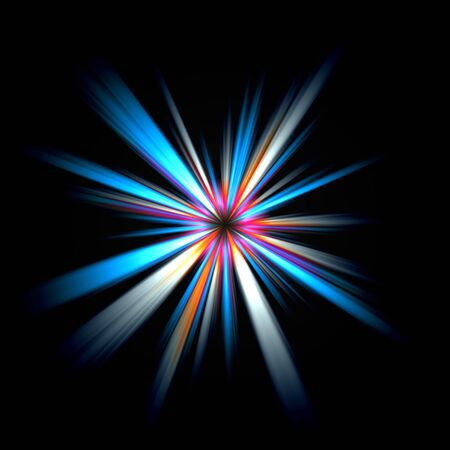 An abstract burst illustration. Very colorful - works great as a background. illustration