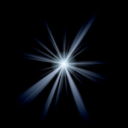 An abstract lens flare. Very bright burst - works great as a background. photo