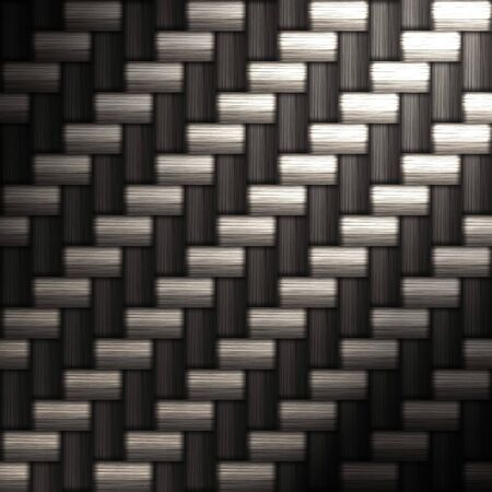 A tightly woven carbon fiber background texture - a great art element for that high-tech look you are going for. Stock Photo - 3106063