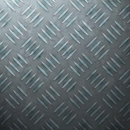 A diamond plate steel texture in a cold blue tint. photo