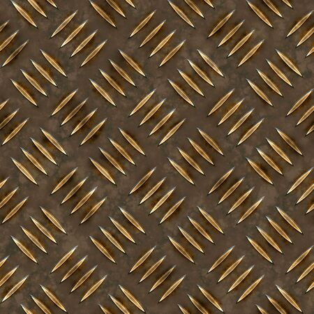 Dark gold diamond plate texture that tiles seamlessly as a pattern in any direction. Stock Photo - 3129433