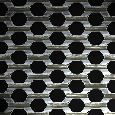 A steel wire mesh background with lighting effect. Stock Photo - 3129387