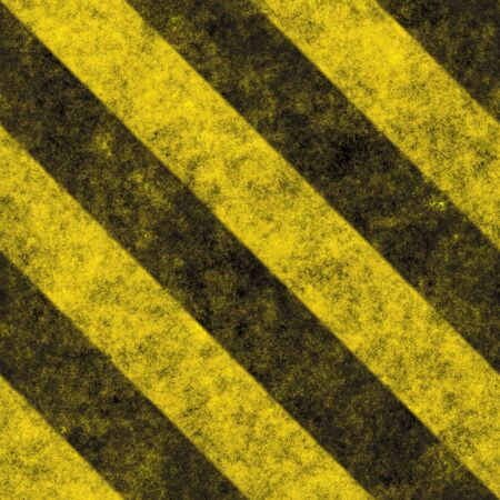 hazard: A diagonal hazard stripes texture.  These are weathered, worn and grunge-looking.  This tiles seamlessly as a pattern - fully tileable in any direction. Stock Photo