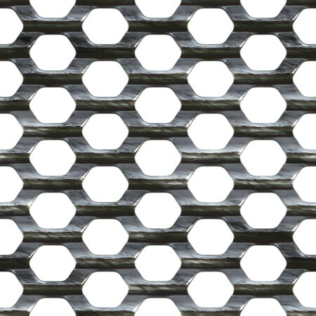 Steel wire mesh that tiles seamlessly as a pattern. Stock Photo - 3133061