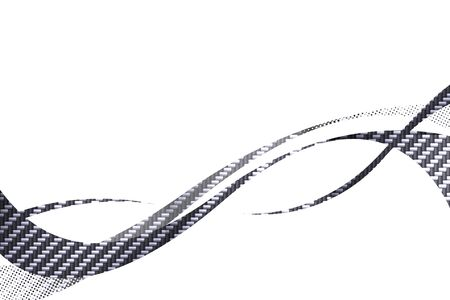 Carbon fiber flowing curves layout with plenty of copy space. photo