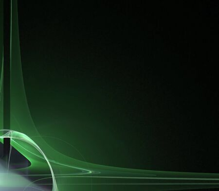 smooth background: A green background border with 3d abstract lines - very modern.  Great for ads and layouts.