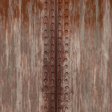 steel sheet: Grungy metal plate background with rivets. This tiles seamlessly as a pattern.