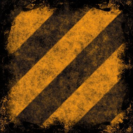 Diagonal hazard stripes texture.  These are weathered, worn and grunge-looking. Stock Photo - 3174456