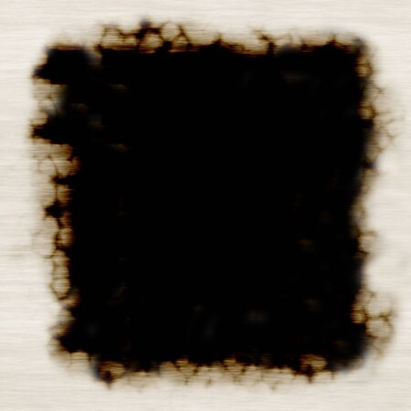 buccaneer: A burned paper frame - plenty of copy space. Stock Photo
