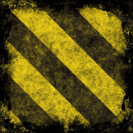A diagonal hazard stripes texture.  These are weathered, worn and grunge-looking. Stock Photo - 3186770