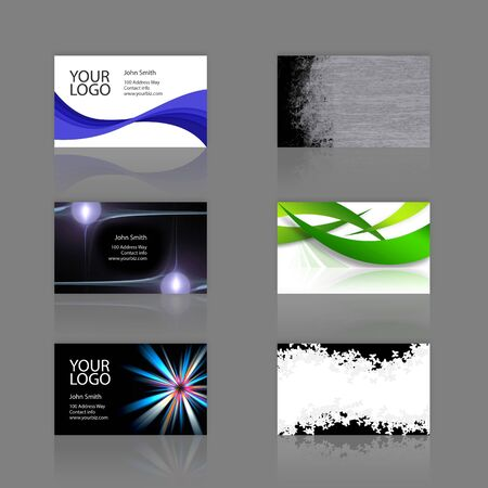 customizable: An assortment of 6 modern business cards - templates that are print ready and fully customizable. These include .25 inch bleed. Cards are 3.75 x 2.25 total, and trim to the standard 3.5 x 2 size.